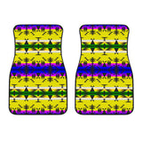 Between the Mountains Greasy Yellow Set of 2 Car Mats