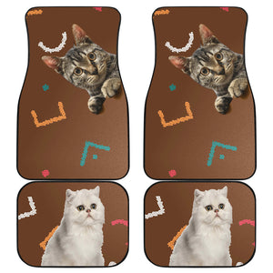 Cats eyes wide open Car Floor Mat