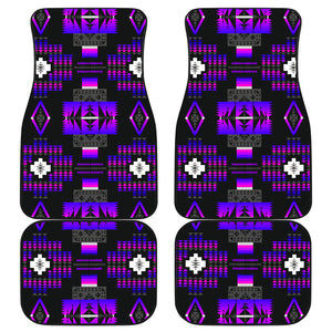 Midnight Purple Front And Back Car Mats (Set Of 4)