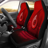 Floral Red Eye Car Seat Covers
