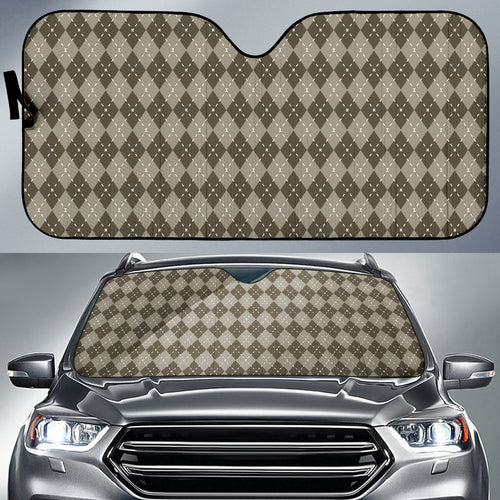Chocolate Argyle Auto Sun Shade