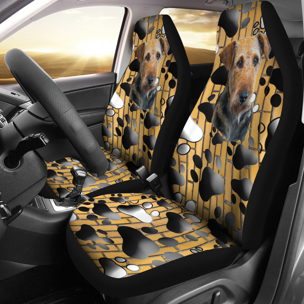airedale terrier Car Seat Cover