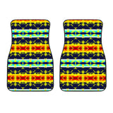 Between the Mountains Navy Yellow Set of 2 Car Mats
