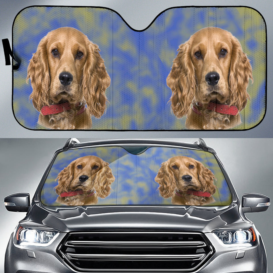 cocker spaniel Auto Sun Shade