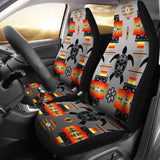 Turtle Gray Set of 2 Car Seat Covers