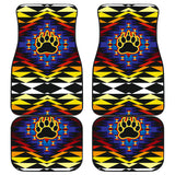 Sunset Bearpaw Front And Back Car Mats (Set Of 4)
