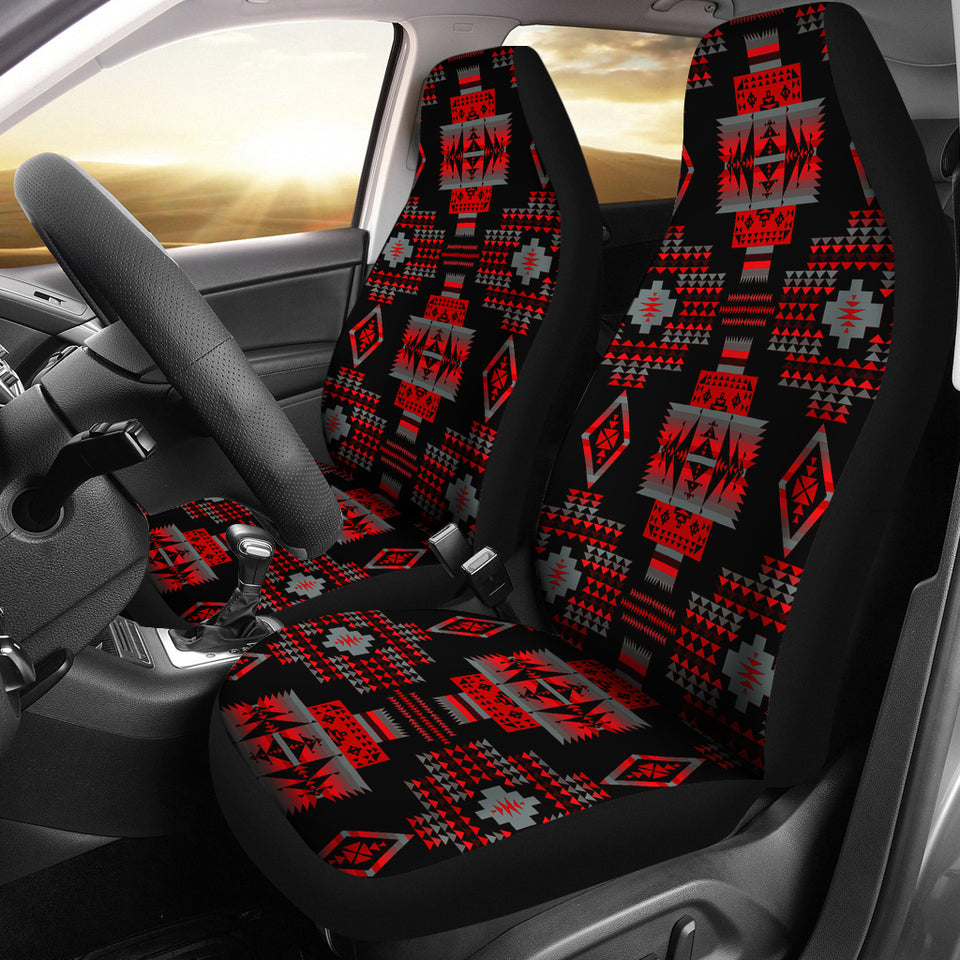 Seven Tribes Red Fire Car Seat Covers