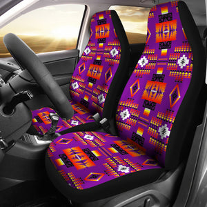 Seven Tribes Purple Car Seat Covers