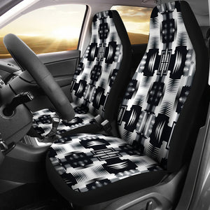 Black and White Sage Car Seat Covers