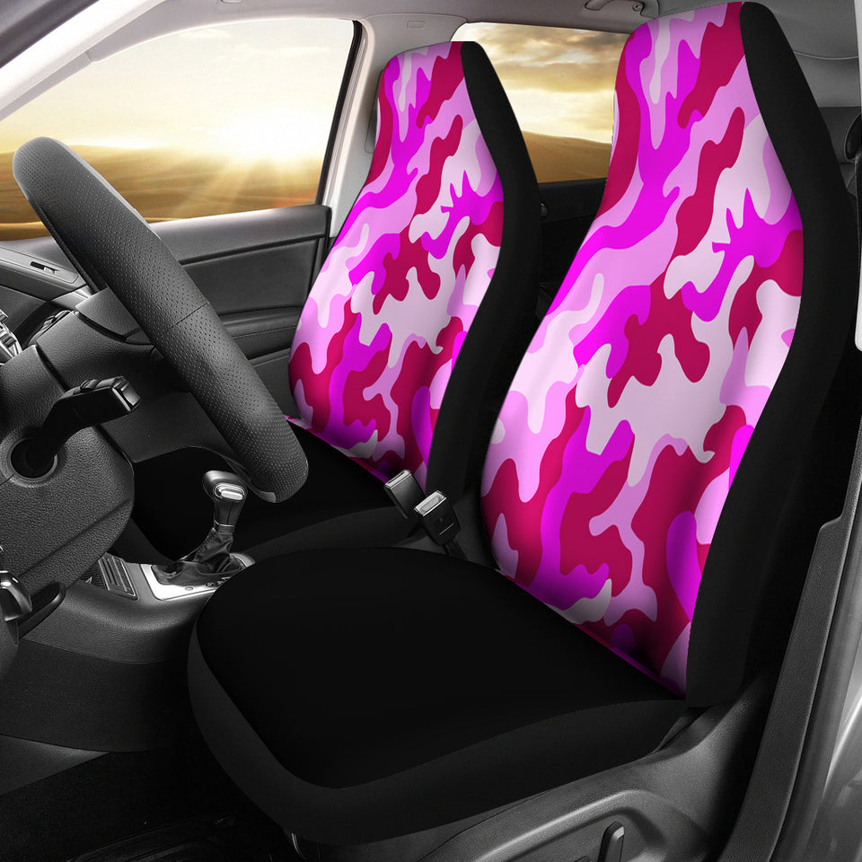 Pink Camouflage Custom Car Seat Covers