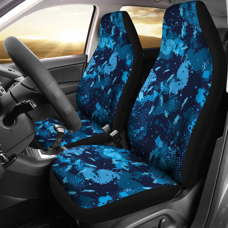 Camo Car Seat Covers Blue