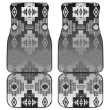 Black and White Treaty Front And Back Car Mats (Set Of 4)