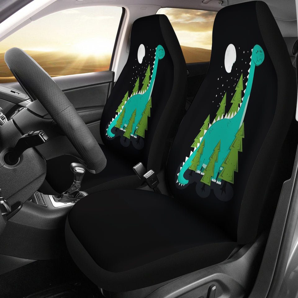 Green Dinosaur Car Seat Covers