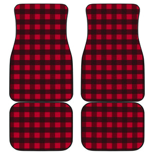 Front And Back Car Mats (Set Of 4) - Plaid