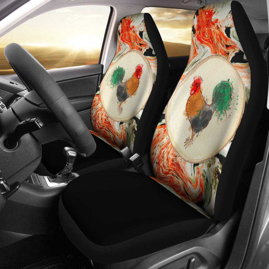 Pastel Chicken Custom Car Seat Covers