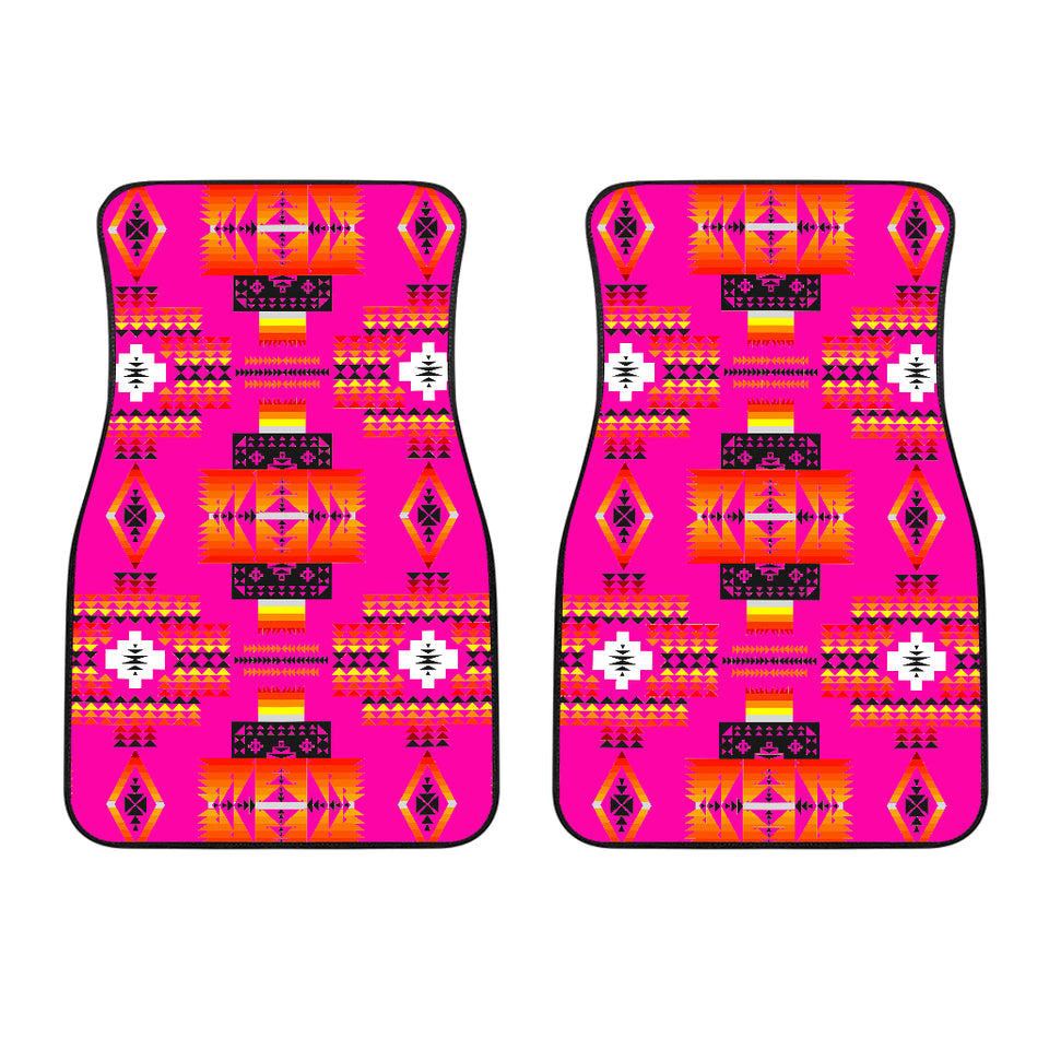 Seven Tribes Pink Front Car Mats (Set Of 2)