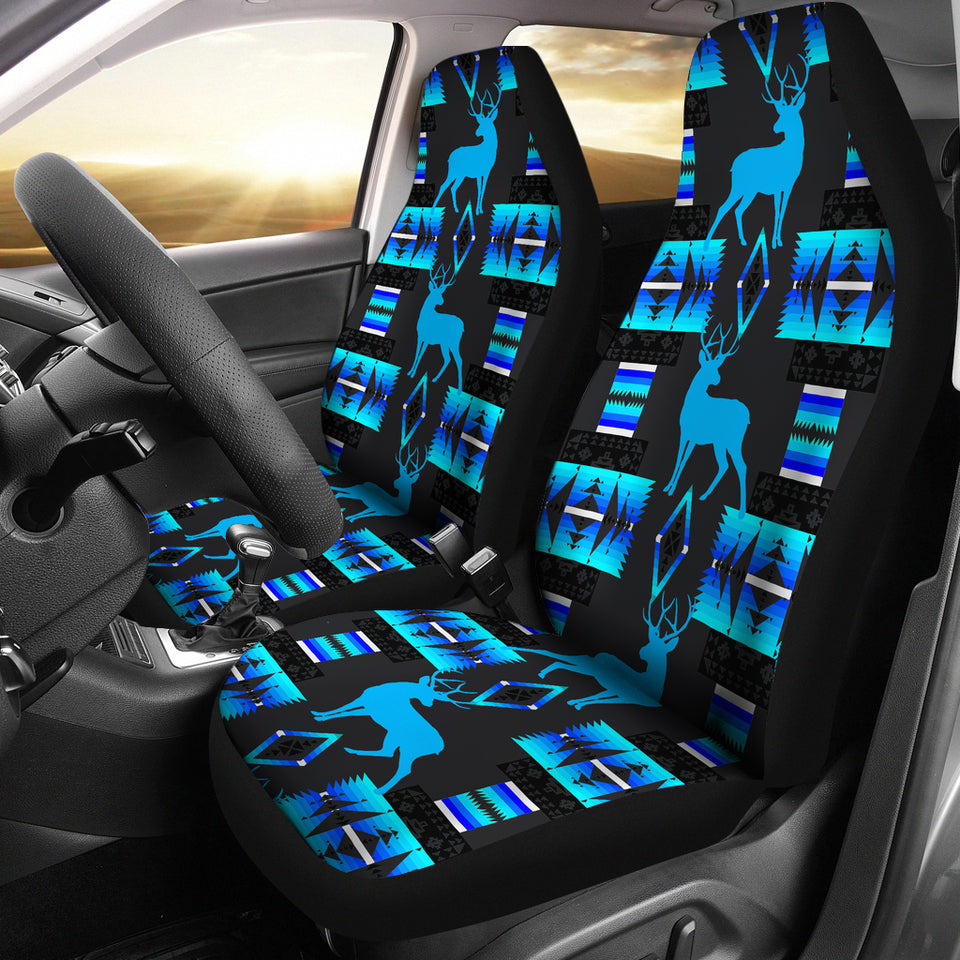 Deer Midnight Lake Car Seat Covers