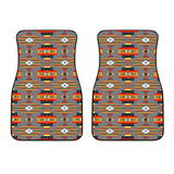 Seven Tribes Gray Front Car Mats (Set Of 2)
