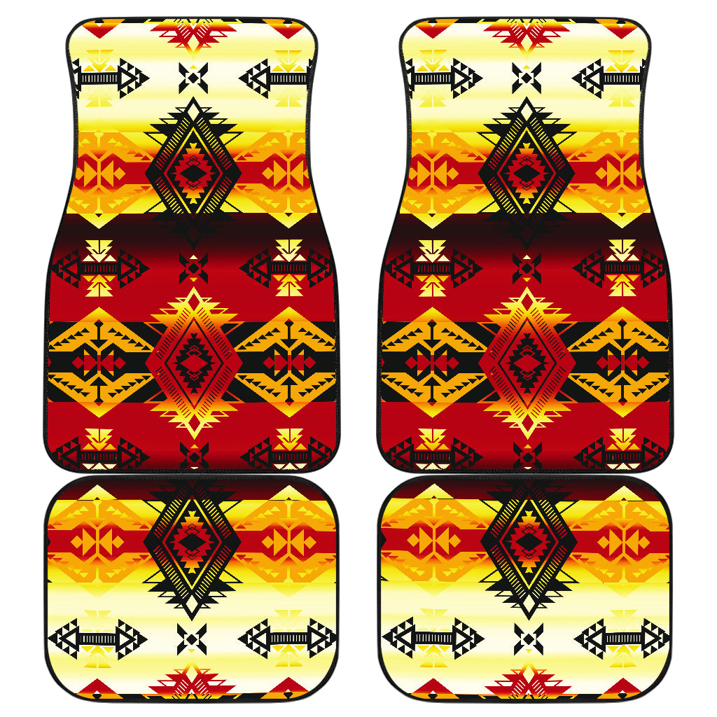 Sovereign Nation Fire Front And Back Car Mats (Set Of 4)