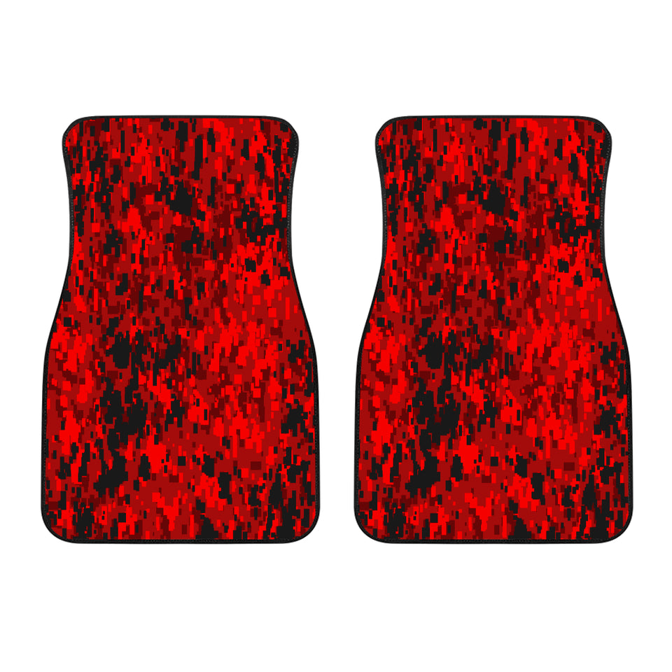 Digital Camouflage Red Front Car Mats (Set Of 2)