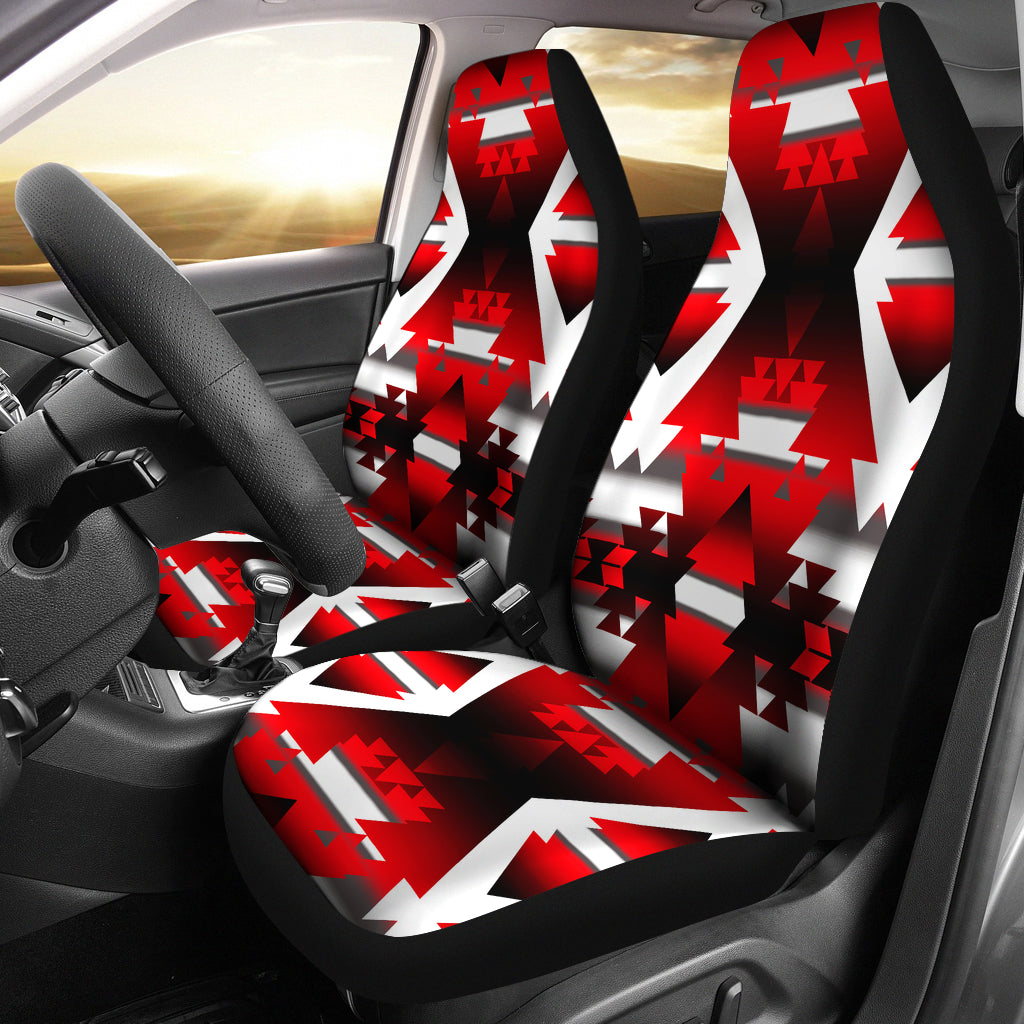 Winter Camp Red Car Seat Covers