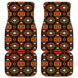 Seven Tribes Black Front And Back Car Mats (Set Of 4)