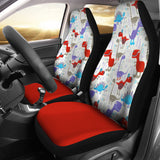 Dinosaur Red Car Seat Covers