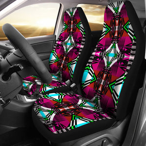 Pretty Pink  Set of 2 Car Seat Covers