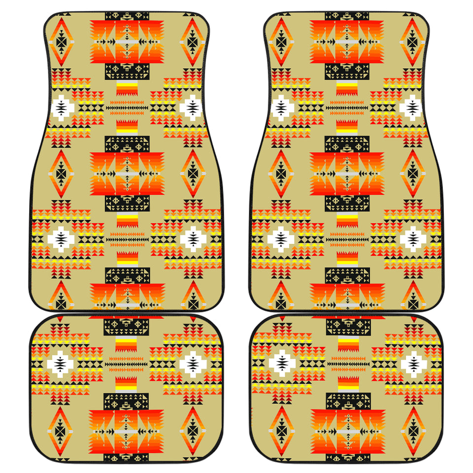 Seven Tribes Tan Front And Back Car Mats (Set Of 4)