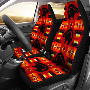 Red Thunderbear Car Seat Covers