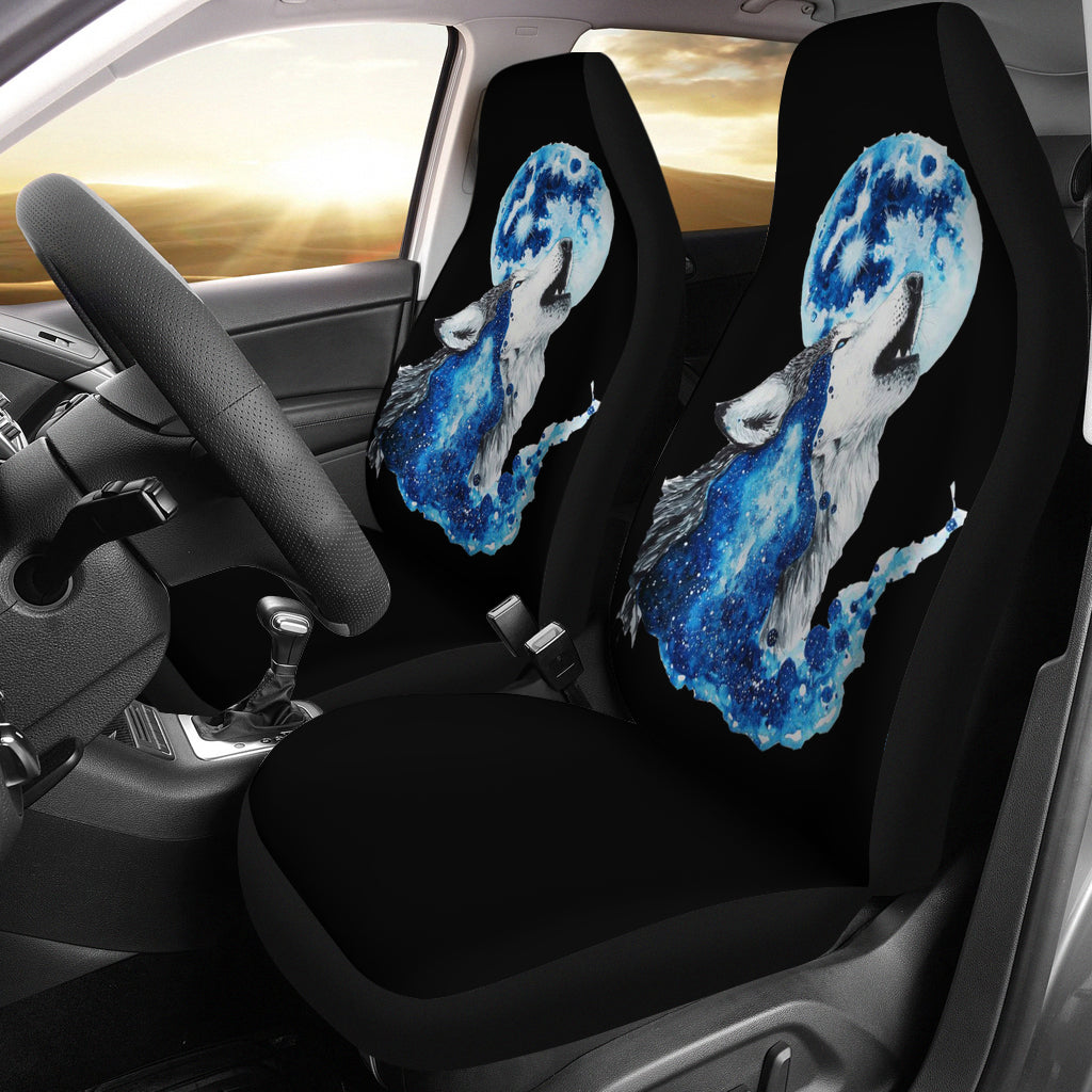 Wolf Full Moon Car Seat Covers