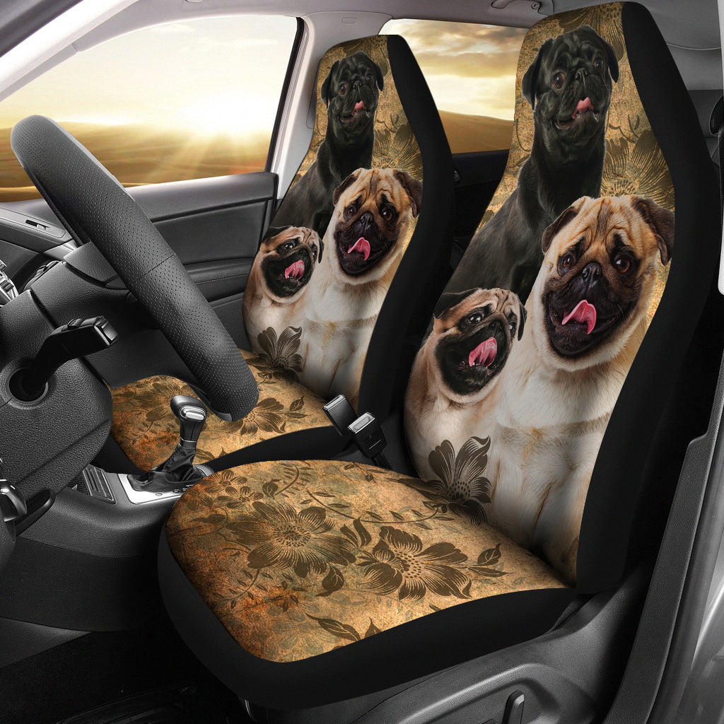 Pug Car Seat Covers (Set of 2)