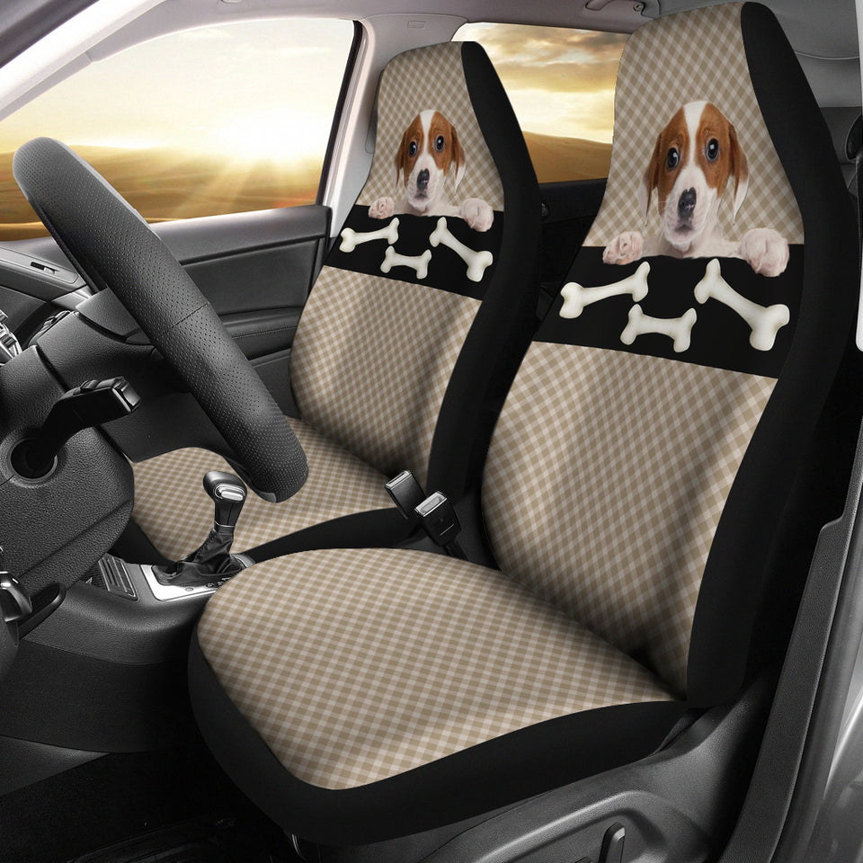 Bone & Puppy Car Seat Cover