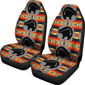 Seven Tribes Gray Thunderbear Car Seat Covers