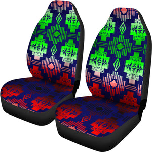 Dark Blue Shades  Set of Car Seat Covers
