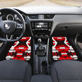 Red Winter Camp Front Car Mats (Set Of 2)