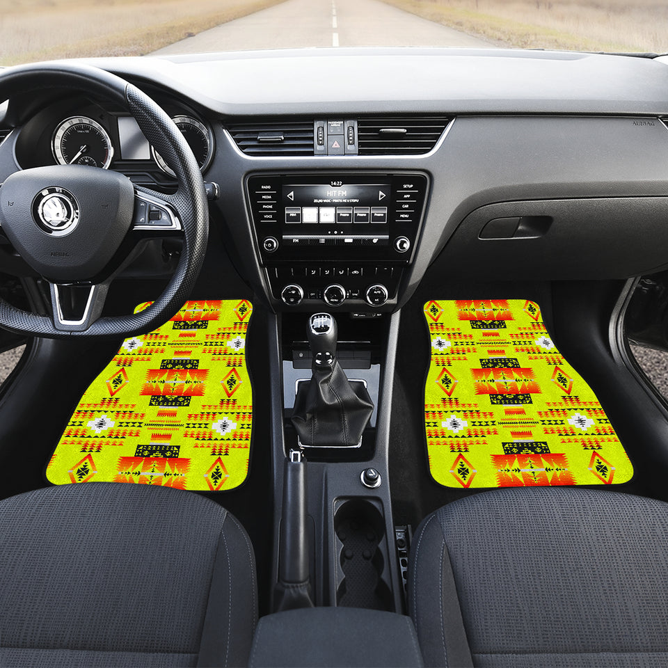 Seven Tribes Yellow Front Car Mats (Set Of 2)