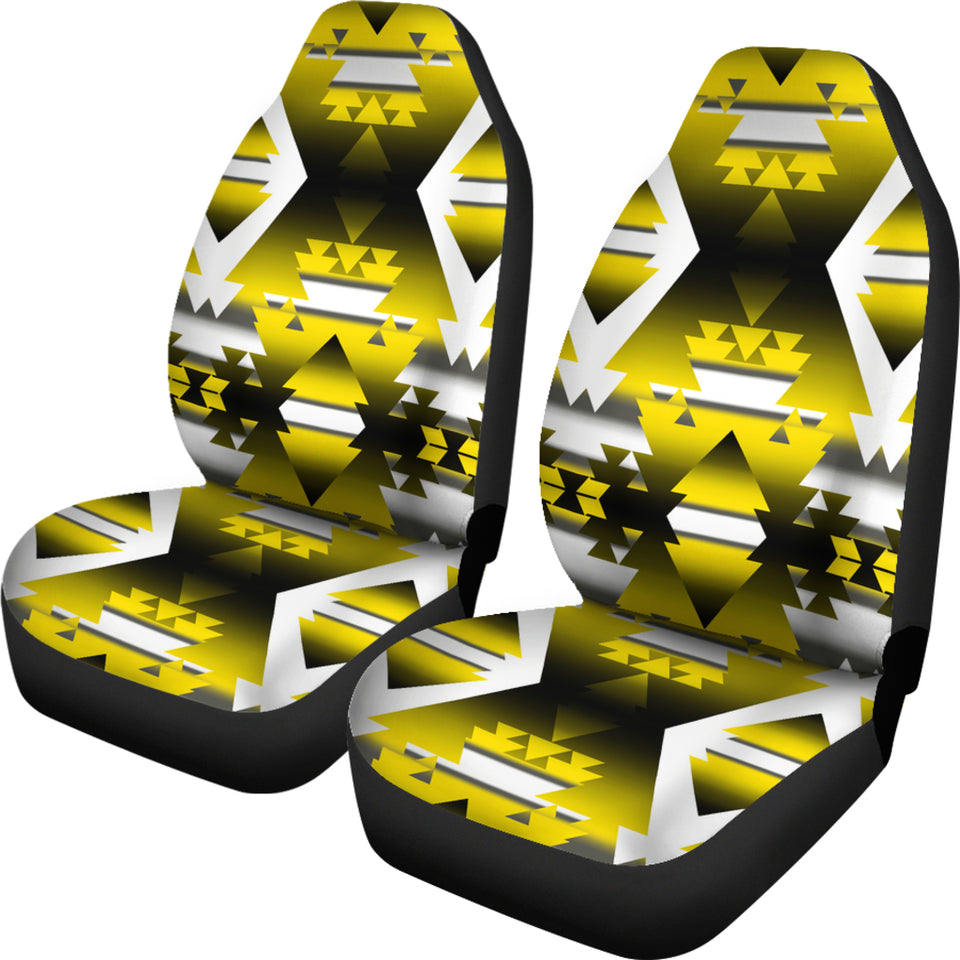 Yellow Winter Camp Car Seat Covers