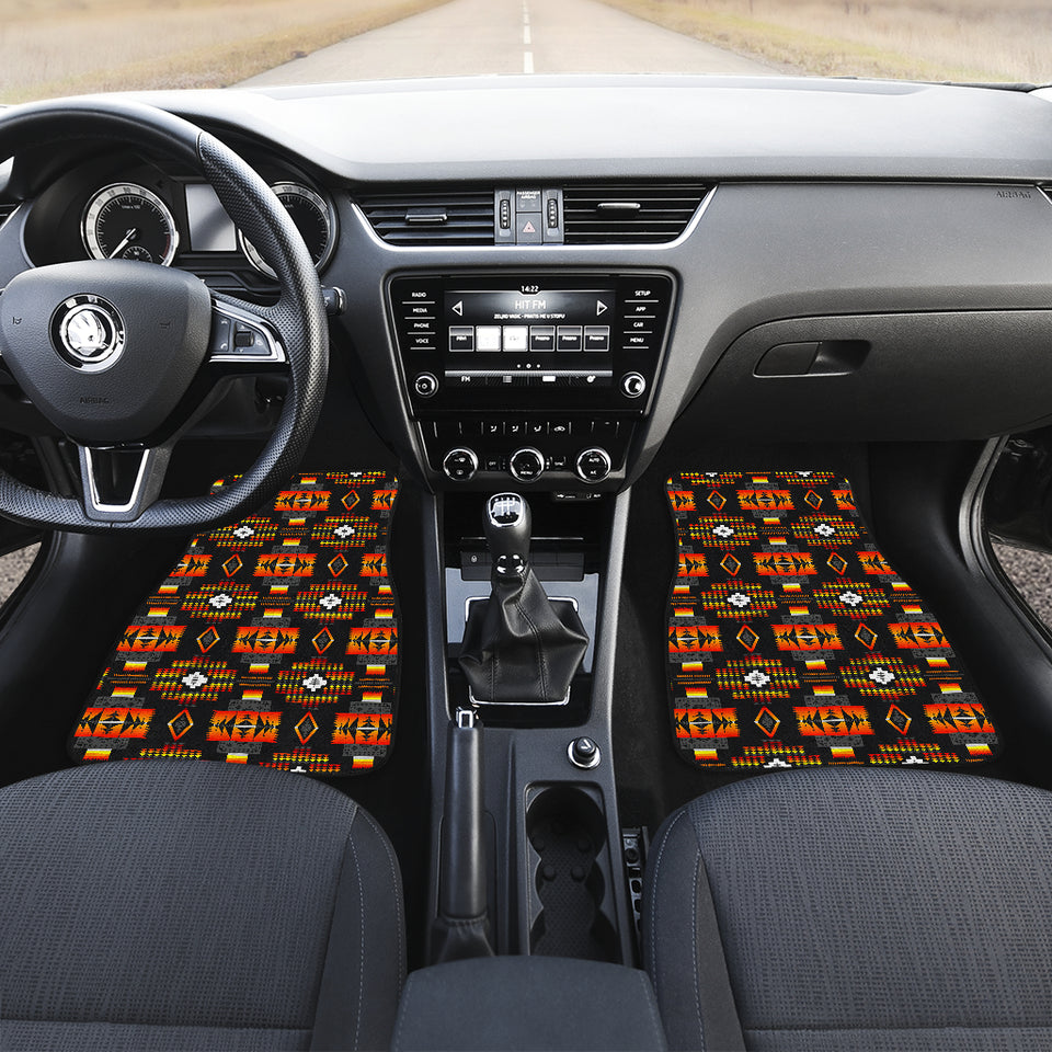 Seven Tribes Black Front Car Mats (Set Of 2)