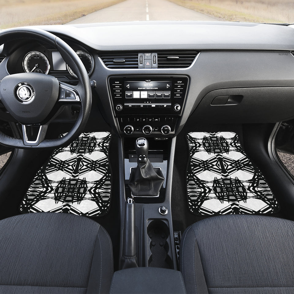 Winter Basketwork Front And Back Car Mats (Set Of 4)
