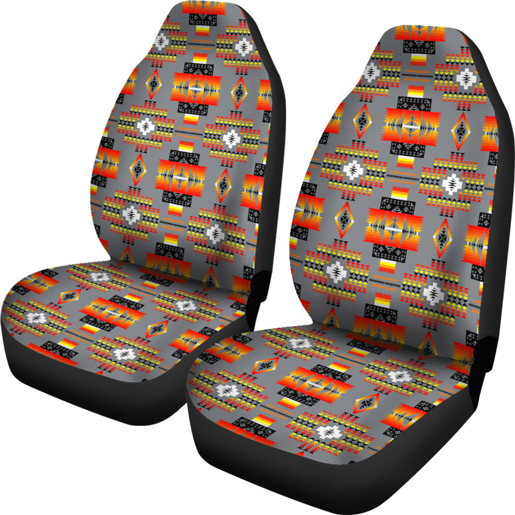 Seven Tribes Gray Set of 2 Car Seat Covers
