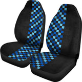 BLUE CHECK Seat Cover
