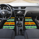 Between the Mountains Navy Yellow Set of 4 Car Mats