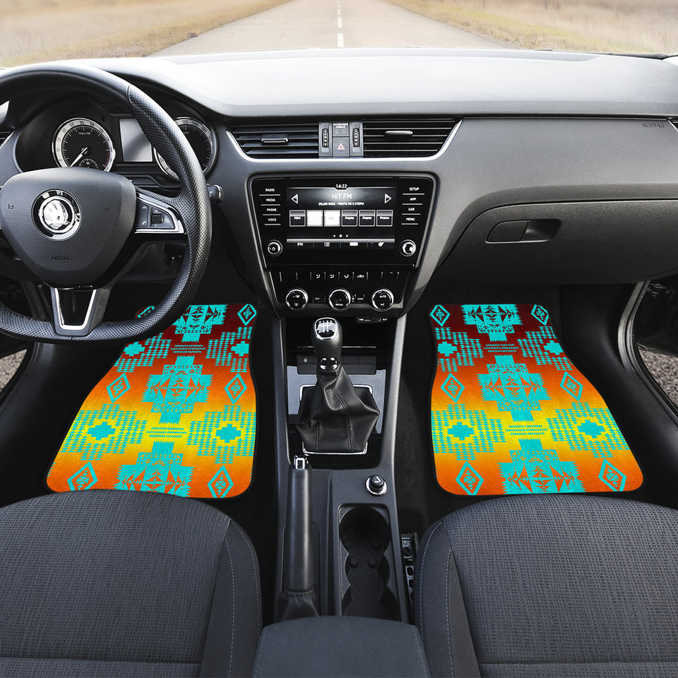 Canyon Turquoise Front Car Mats (Set Of 2)