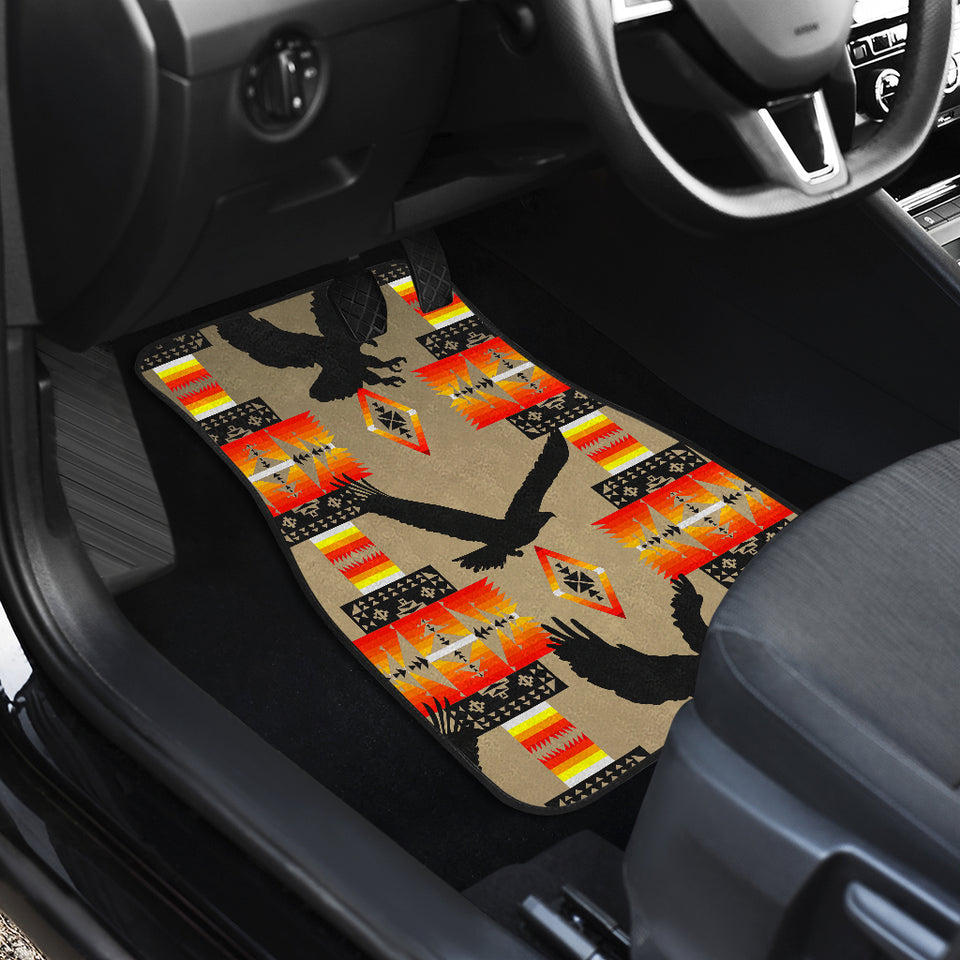 Eagle Brownish Gray Fade Front Car Mats (Set Of 2)