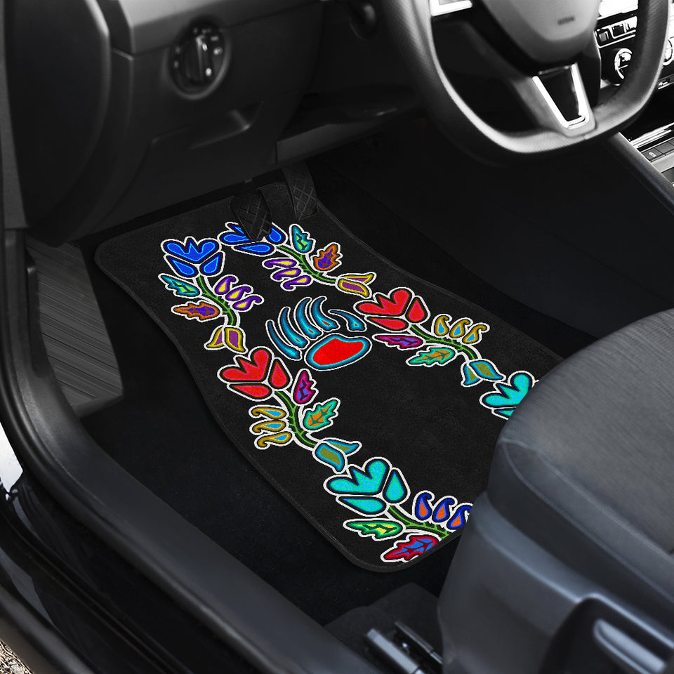 Generations Floral with Bearpaw Front And Back Car Mats (Set Of 4)
