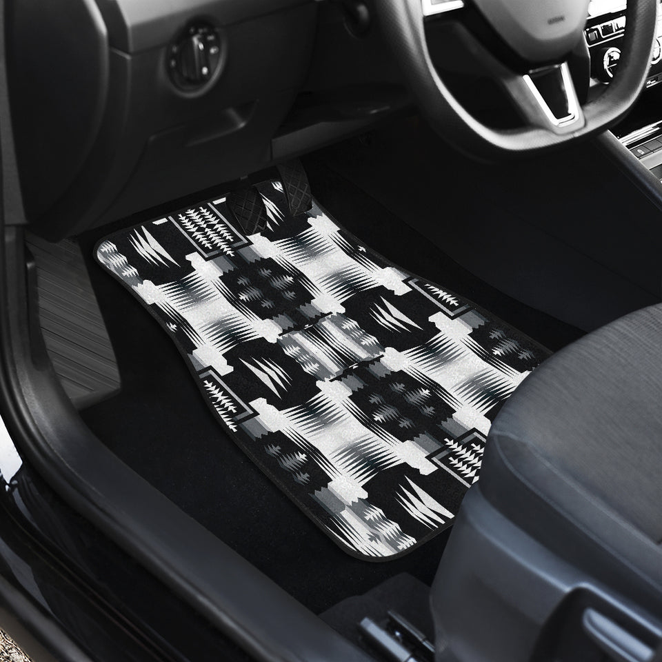 Black and White Sage Front Car Mats (Set Of 2)