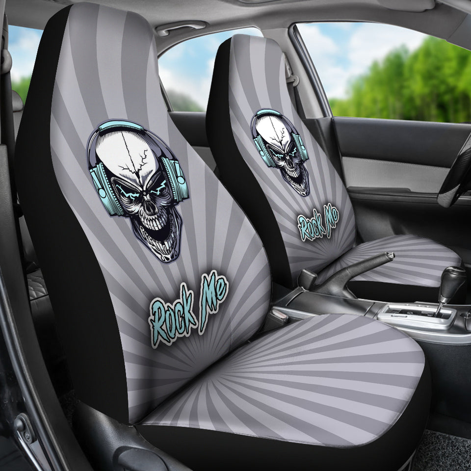 Rock Me Car Seat Covers for Skull Lovers and Music Freaks