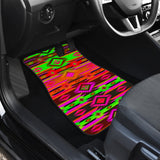 Psychedelic Front And Back Car Mats (Set Of 4)