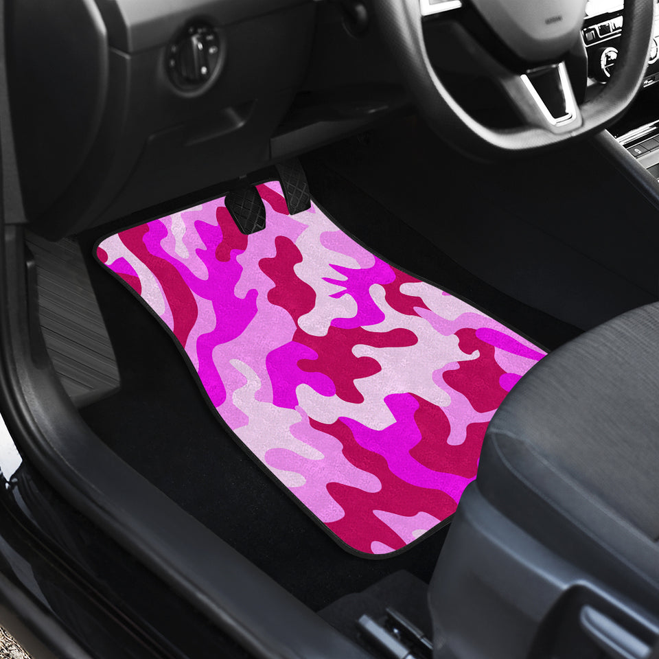 Pink Camouflage Front Car Mats (Set Of 2)